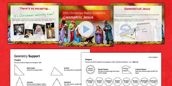 Christmas Maths Creations - Maths KS 3, christmas, geometry, construction, shape, triangles, polygons, quadrilaterals, properties, angles, parallel, perpendicular