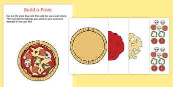 Pizza Parlour Build a Pizza Activity
