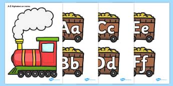 a z alphabet on trains