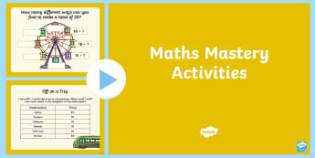 Year 1 Maths Mastery PowerPoint - addition facts, problem solving, place value, number, Australia