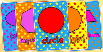 2D Shape Posters Star Pattern - 2D, shapes, 2D shapes, posters