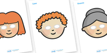 Story Role Play Masks to Support Teaching on Katie Morag - Katie Morag, Mairi Hedderwick, story, role play mask, role play, scotland, book, resources, scottish, book, resources, story book