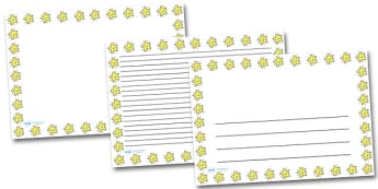 Smiley Star Landscape Page Borders- Landscape Page Borders - Page border, border, writing template, writing aid, writing frame, a4 border, template, templates, landscape