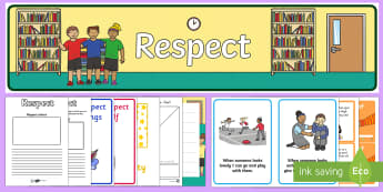 Respect Lesson Teaching Pack - respect, respect pack, respect lesson, respect lesson teaching pack