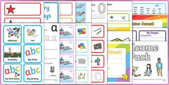 Probationer Classroom Set Up Pack First Level - probationers, class set up, NQT, display, August, September, new teacher
