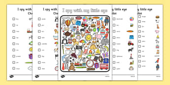 I Spy with My Little Eye Activity - I spy with my little eye, I spy, activities, games, class games, class actvities, I spy worksheet, I spy game sheet