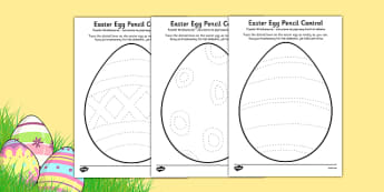 Easter Egg Pencil Control Activity Sheets Polish Translation - polish, easter egg, pencil control, activity, worksheet