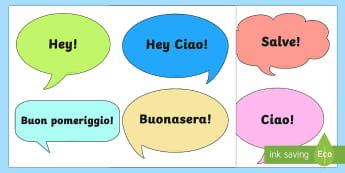 Schede sui saluti Attività - parole, saluti, salutare, ciao, italiano, italian, ritaglia, materiale, scolastico