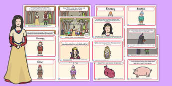 Snow White and the Seven Dwarfs Story Sequencing 4 per A4 Polish Translation - polish