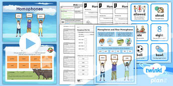 PlanIt Y3 SPaG Lesson Pack: Homophones - planit, year 3, spag, lesson, pack