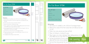 Tinfoil Boat STEM Activity and Resource Pack - summer, summer season, first day of summer, summertime, STEM, Boat, Sink or Float, Summer STEM