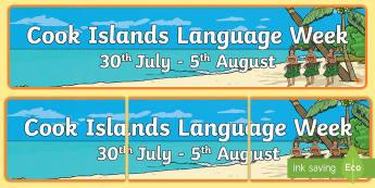 Cook Islands Language Week Display Banner - Cook islands, Language Week, Languages, Pasifika, Pacific