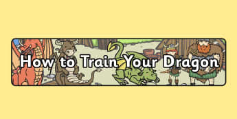 How to Train Your Dragon Display Banner - displays, banners