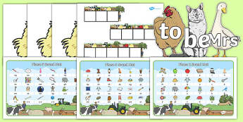 Phase 2, 3 and 5 Farm Themed Phonics Pack - phase 2, phase 3, phase 5, farm, phonics, pack