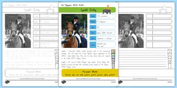 Australian Rio Olympian Lyndal Oatley Handwriting Practice Activity Sheet, worksheet