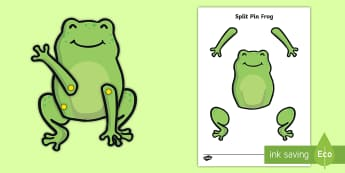Split Pin Frog Activity  - frog, ponds, pond life, frog life cycle, lifecycles, split pin, puppet
