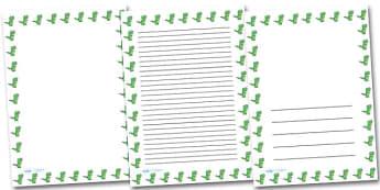 Cute T-Rex Portrait Page Borders- Portrait Page Borders - Page border, border, writing template, writing aid, writing frame, a4 border, template, templates, landscape