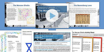 Sensory Lesson the Warsaw Ghetto Pack - holocaust, Holocaust Memorial Day, PSHE, suffering, Religious Studies, History, Second World War.