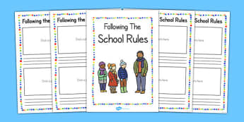 Following the School Rules Booklet - school rule, booklet, follow