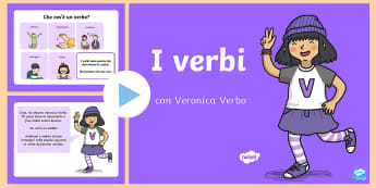 I Verbi Presentazione Powerpoint - Verbi, italiano, italian, grammatica, grammaticale, presentazione, powerpoint