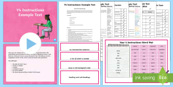 Y4 Instructions Example Text - Example Texts Y4, exemplification, moderating, moderation, wagoll, SATs, non-fiction, sample, genre,