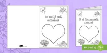 Ziua Mamei -  Felicitare cu amprente digitale - Ziua mamei, mama, martie, felicitări, 8 martie, femeilor, arte, felicitare, materiale