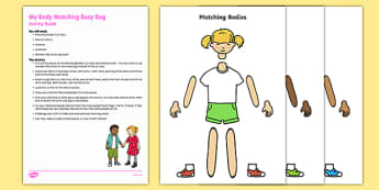 My Body Matching Busy Bag Resource Pack for Parents