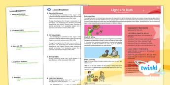 CfE First Level PlanIt RE Year 2 Light and Dark PlanIt Overview - CfE Planit Overviews, Christmas, Advent, light, Christianity, Rama and Sita, Hindu, Diwali, Judaism,
