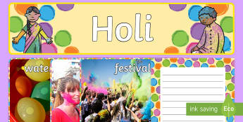 Holi Festival  Resource Pack - holi, Hindu, festival, celebration, colour, RE, religion, Hinduism