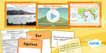 PlanIt - Geography Year 3 - Extreme Earth Lesson 3: More Volcanoes Lesson Pack