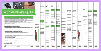 Skipping Club Guidance and Plans for Teachers