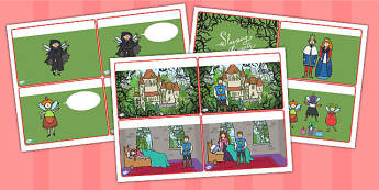 Sleeping Beauty Story Sequencing Cards - story sequencing, story