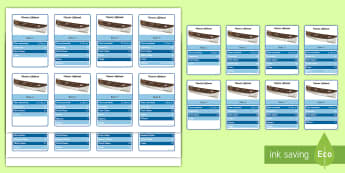 Titanic Lifeboat Information Cards - Handling Data, Titanic, lifeboats, information, survivors, interpreting, selecting, history