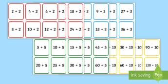 Cártaí Uimhirabairtí: Iolrú agus Roinnt 2x, 3x, 5x, 10x Cards - Cártaí uimhirabairtí: iolrú agus roinnt X2, X5, X10, Iolrú, Méadú, Mulitply, Multiplication,