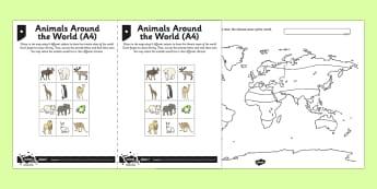 Mapping World Climates Activity Sheet, worksheet