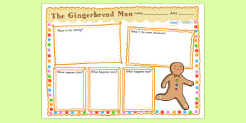 The Gingerbread Man Story Review Writing Frame - the gingerbread man, gingerbread man, gingerbread man story review, gingerbread man review, tales