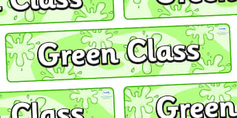 Green Themed Classroom Display Banner - Themed banner, banner, display banner, Classroom labels, Area labels, Poster, Display, Areas