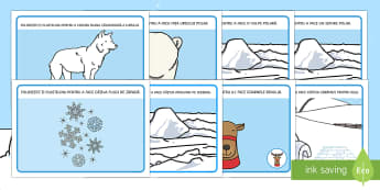 Regiuni Polare Planșe pentru modelaj cu plastilina - regiuni polare, animale polare, animale la poli, polar, materiale, modelaj cu plastilina, română,