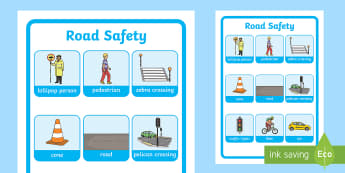 Road Safety Word Grid