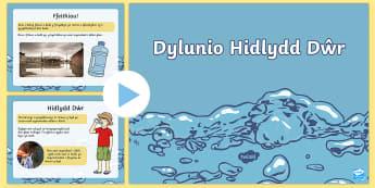 Pŵerbwynt Her Dylunio Hidlydd Dŵr - Diwrnod y Dwr, World Water Day, hidlydd, filter, dwr glan, clean water, mynediad I ddwr glan, access