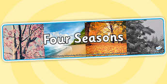Four Seasons Photo Display Banner - four seasons, seasons, display banner, seasons display banner, four seasons banner, photo display banner