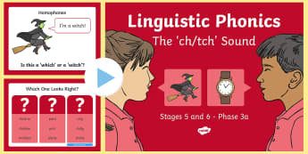 NI Linguistic Phonics Stage 5 and 6 Phase 3a, 'ch', 'tch' Sound PowerPoint  - Linguistic Phonics, Phase 3a, Northern Ireland, 'ch', 'tch', sound, sound search, word sort, i