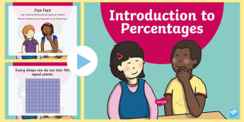 CfE 2nd Level Introduction to Percentages PowerPoint Pack  - percentage, introduction, fractions, activity, percentages,Scottish