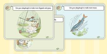 The Tale of Mr Jeremy Fisher Playdough Mats - mr jeremy fisher