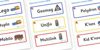Mondrian Themed Editable Construction Area Resource Labels - Themed Construction resource labels, Label template, Resource Label, Name Labels, Editable Labels, Drawer Labels, KS1 Labels, Foundation Labels, Foundation Stage Labels