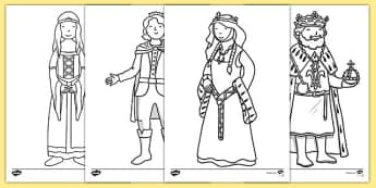 The Princess and the Pea Colouring Sheets - The Princess and the Pea, Colouring Sheets, colouring, colouring activity, prince, queen, princess, pea, castle, fairytale, traditional tale, Hans Christian Andersen, story, story sequencing,
