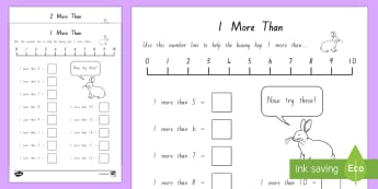 1 More and 2 More Activity Sheet - New Zealand, maths, addition, numbers to 20, adding, Years 1-3, one more, two more