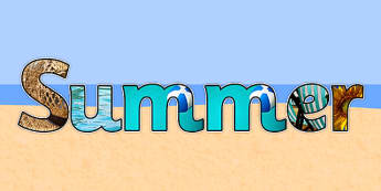 Summer Photo Display Lettering - summer, display, lettering