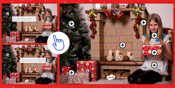 Christmas Picture Hotspots - christmas, vocabulary, interactice, describe, photo, picture