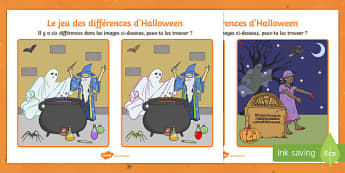 d'Halloween Jeu des différences-French